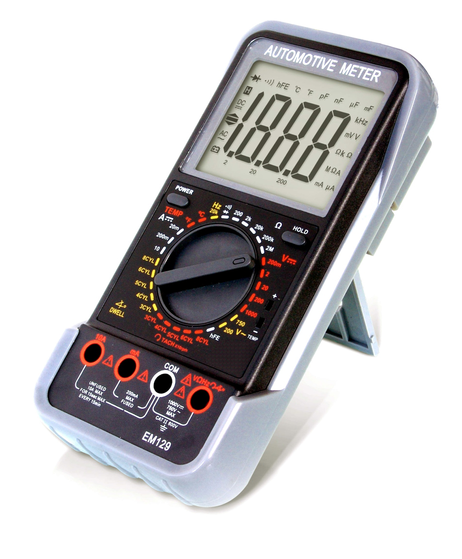 Příruční minimotortester/multimetr Automotive Meter EM 129